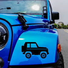 Indiana Jeep Grill Die Cut Vinyl Decal State Us Window Sticker Car Truck Suv