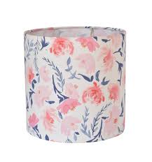 Pink Floral Lamp Shade Kids Room Pink Lamp Shade Nursery Lampshade Floral Nursery Decor Baby Girl Room Table Lamp Aquarelle Study In Wash