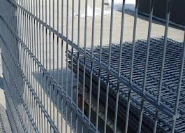 Galvanized Pvc Coated Steel Wire Fencing Double Wire Mesh Fence For Garden