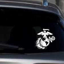 Marine Corps Eagle Globe Anchor Silver Metallic Usmc Die Cut Car Decal Sticker Windows Decal Sticker 6 White Stickers Aliexpress