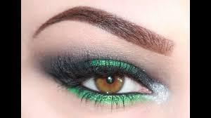 black green shimmer eyeshadow tutorial