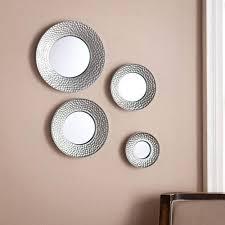 silver sphere wall mirror 4pc set