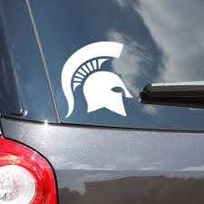 Michigan State Sticker Spartan Helmet Vinyl Car Decal Nudge Printing