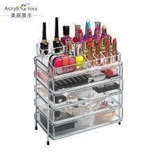 4 drawer storage box clear acrylic