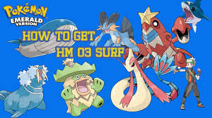 How to get HM 3 Surf - Pokemon Emerald - YouTube