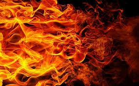 تحميل خلفيات النار النيران خلفية سوداء عريضة 1920x1200 جودة