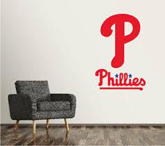 Philadelphia Phillies Wall Decal Logo Baseball Mlb Art Sticker Vinyl Large Sr70 Ebay