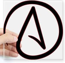 Amazon Com Cafepress Atheist Symbol Sticker Square Bumper Sticker Car Decal 3 X3 Small Or 5 X5 Large Home Kitchen