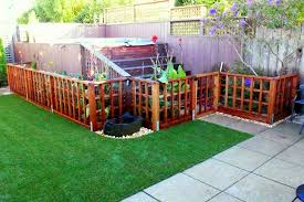 low trellis fence for a garden to
