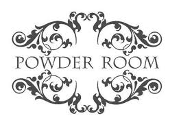 Romantic French Vinyl Wall Lettering Powder Room French Country Bathroom