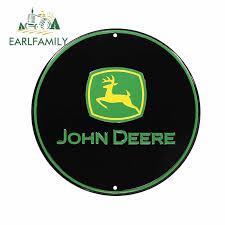 Earlfamily 13cm X 13cm For John Deere Funny Car Stickers Fashion Graphics Decal 3d Scratch Proof Waterproof For Jdm Suv Rv Car Stickers Aliexpress