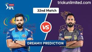 Dream11 Team Prediction MI Vs KKR