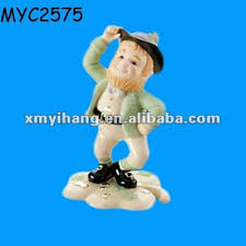 lucky irish leprechaun figure 9cm cute