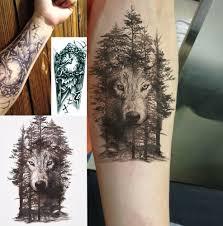 1 Pc Wodoodporny Tymczasowy Tatuaz Naklejki Klatki Piersiowej