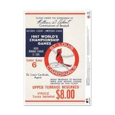Mustang Products St Louis Cardinals 1967 World Series Ticket Stub Wall Decal Mlb Dcw24 Stlws 1967g4l Sportspyder