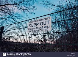Keep Out Sign On The Perimeter Fence Of Dulwich Hamlet Football Club Stock Photo Alamy