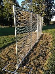 Chain Link Fence Panels 10 L X 6 H Construction Temp Fence Or Rent A Fence Ebay