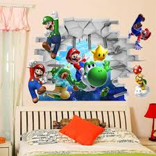 Classical Game Super Mario Come Wall Stickers For Kids Room Home Decorations 1440 Cartoon Decals Children Gift 3d Mural Art 3 0 Sticker Eyeshadow Sticker Gift Tagssticker Carbon Aliexpress