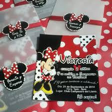 Minnie Mouse Roja Chic Tarjeta De Invitacion Personalizada Bs