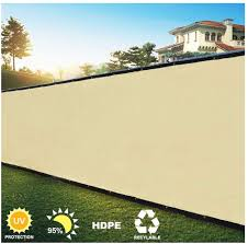 Decorative Fences Perforated Sun Protection Shade Privacy Screen 90 Visibility Blocking Uv Protection Hdpe Suitable For Apartment Balconies 54 Sizes Color Beige Size 1 8x31m Amazon Co Uk Kitchen Home