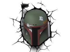 Star Wars 3d Led Wall Decal Limited Edition Boba Fett Le 1000