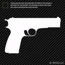 1911 Sticker Die Cut Decal Gun Pistol M1911 45 45 Ebay