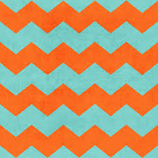 teal and orange art print by her art