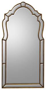 john richard wood frame bevel mirror