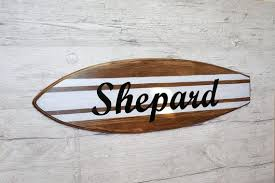 personalized surfboard wall art name