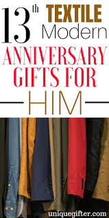 13th textile modern anniversary gifts