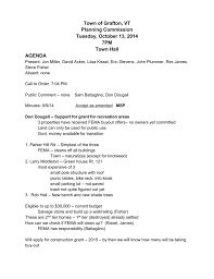 Town of Grafton, VT Planning Commission Tuesday, October 13