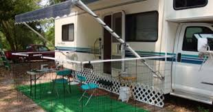 Smart Temporary Fencing For Pups Rv Dog Rv Dog Fence Camper Storage