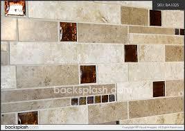 brown glass travertine mix backsplash