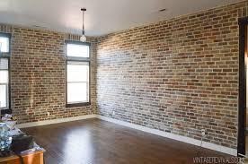 faux brick veneer wall vintage revivals