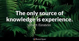 albert einstein the only source of knowledge is