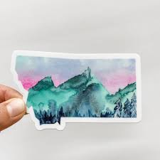 Montana State Mountains Decal Sticker Shop Sticker Decals And Stationery Online