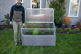 timber raised bed cold frame