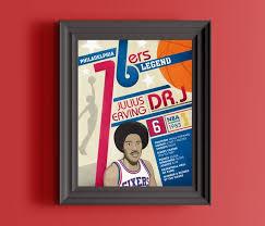 Philadelphia 76ers Prints Philadelphia Sixers Gift Dr J Etsy