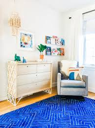 Colorful Kid S Bedroom With Royal Blue Rug Hgtv