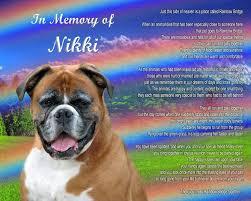 Boxer Dog Memorial-Poem-Rainbow Bridge ...