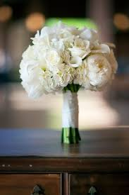bridal bouquet with peonies roses