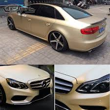 Satin Champagne Gold Vinyl Car Wrap Matte Chrome Decorative Vinyl Film With Air Release For Vehicle Decal Cover 1 52 20m Roll Filme Xxx Vinyl Acetatefilm To Cover Windows Aliexpress