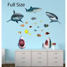 Giant Wall Stickers With Shark Wall Decor For Nursery Or Kids Playroom