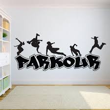 Parkour Wall Decal Extreme Sports Vinyl Stickers Jumping Street Cities Street Sport Decals Parkour Sticker Art Wall Decor Kids Room Wall Decals Kids Room Wall Stickers From Joystickers 8 96 Dhgate Com