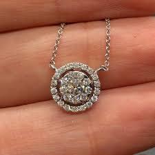 18k white gold round diamond cer