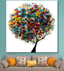 x 0 4 x 48 inch colourful tree painting