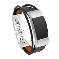 lux case steel and leather fitbit