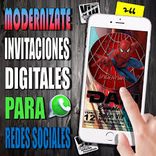 Invitacion Digital 266 Cumpleanos Spiderman 99 99 En