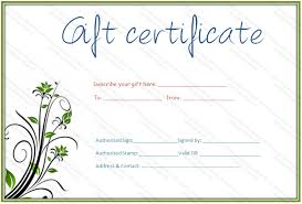 green bale gift certificate template