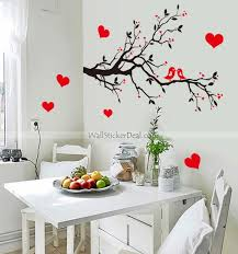 Love Birds And Branch Tree Wall Sticker Wall Stickers Home Decor Heart Wall Decor Living Room Decals